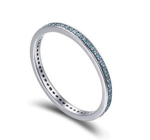 Sterling Silver Eternity Band - Blue - Alex Aurum