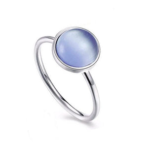 Sterling Silver Polished Zircon Ring - Alex Aurum