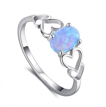 Sterling Silver Interlocking Hearts Ring - Alex Aurum