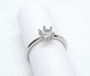 Sterling Silver Solitaire Ring - Alex Aurum