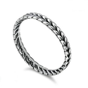Sterling Silver Wheat Stacking Ring - Alex Aurum