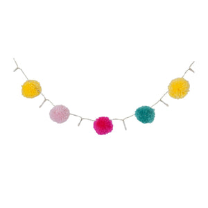 Pom Pom String Lights Multicolor