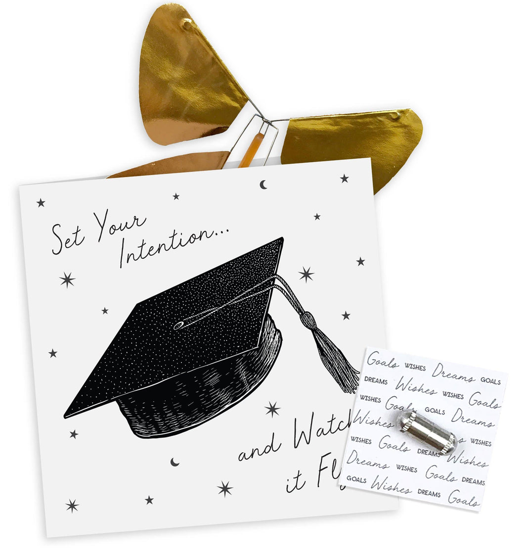 Graduation Magic Butterfly Card
