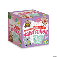 Load image into Gallery viewer, Scented Eraser Valentines - box of 28