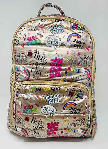 Bari Lynn Backpack - Girl Power Gold