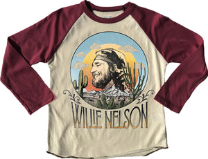 Rowdy Sprout Willie Nelson LS Tee