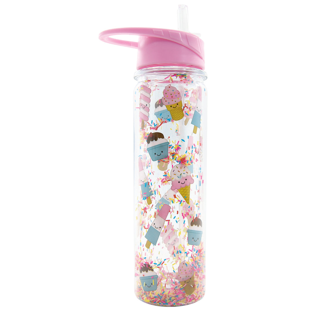 Ice Cream Treats Flip Up Straw Waterbottle