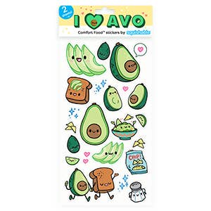Squishables Avocado Stickers