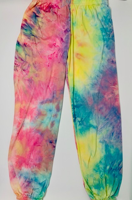 Dori Creations Tie Dye Sweatpant - Pink Sunrise