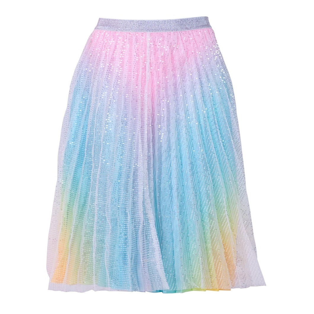 Rainbow Sparkle Midi Skirt