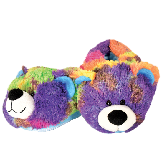 Tie Dye Bear Slippers