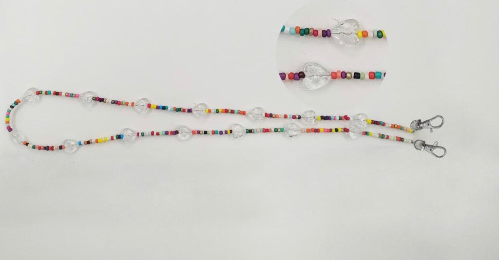 Bari Lynn Mask Chain - Rainbow Beads