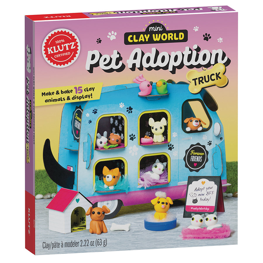 Mini Clay World Pet Adoption Truck