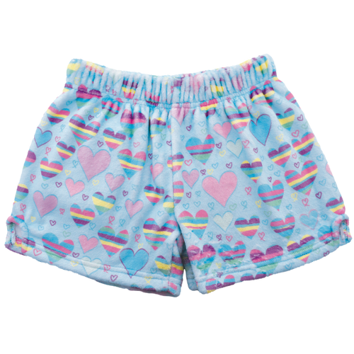 Striped Hearts Plush Shorts