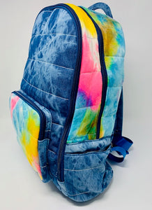 Bari Lynn Backpack - Rainbow Tie Dye Denim