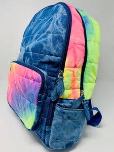 Bari Lynn Backpack - Neon Tie Dye Denim