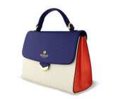 blessons boutique, ocean springs boutique, purse, handbag, crossbody, Gunas, women's, accessories, red, navy, multi, blue
