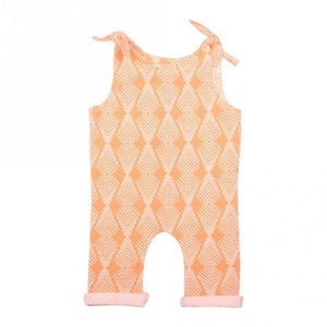 blessons boutique, ocean springs boutique, romper, girls, children's clothing, apricot, adjustable