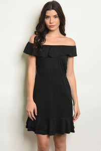 little black dress, off the shoulder, ruffles, short sleeve, day to night, date night dress, women's clothing, apparel, dresses, dress, cute dress