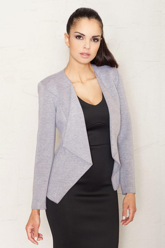women's clothing, blazer, grey, women's tops, women's fashion, blessons boutique, ocean springs boutique