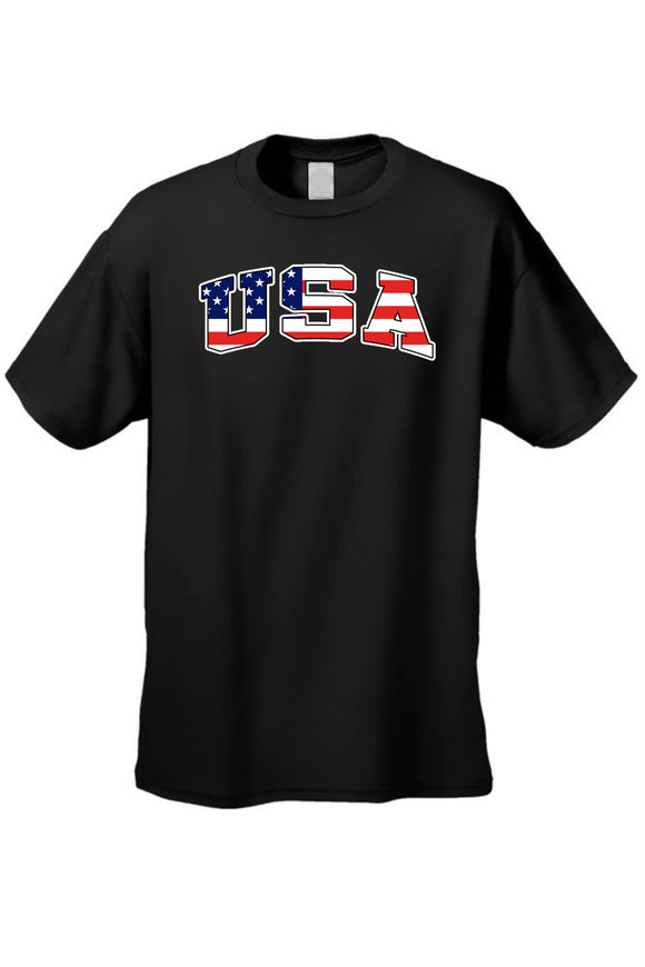 blessons boutique, ocean springs boutique, men's clothing, women's clothing, t-shirt, shirts, patriotic, USA, america, american flag, short sleeve, black