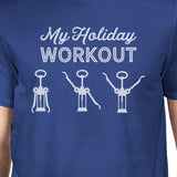 blessons boutique, ocean springs boutique, women's clothing, t-shirt, blue, christmas, apparel, holiday, short sleeve, my workout