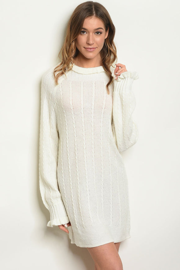 Ivory Sweater Dress