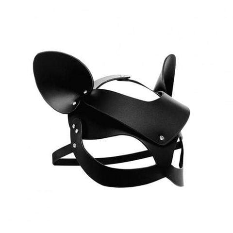 Bad Kitten - Zwart Leren Masker BDSM Master Series