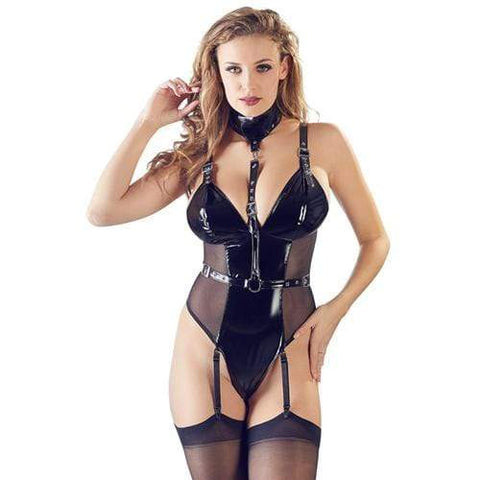 Lak Body Met Halsband Dames Lingerie Black Level