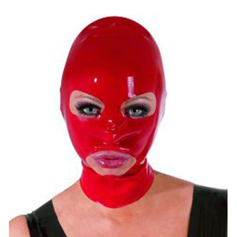 Latex Hoofdmasker - Rood BDSM The Latex Collection