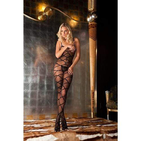 Strapped up sheer bodystocking Dames Lingerie Rene Rofe