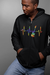 Pulse Bass Guitar Statement Zip Hoodie