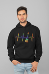 Pulse Bass Guitar Statement Pullover Hoodie