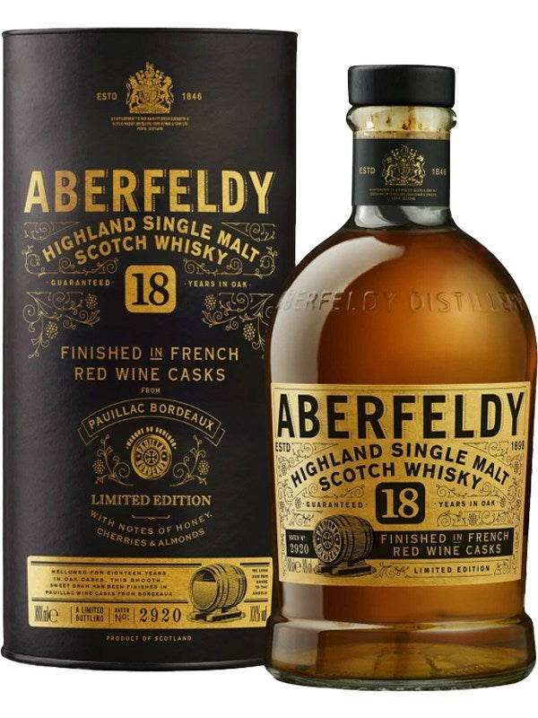 Aberfeldy 18 Year Old Finished in French Red Wine Casks