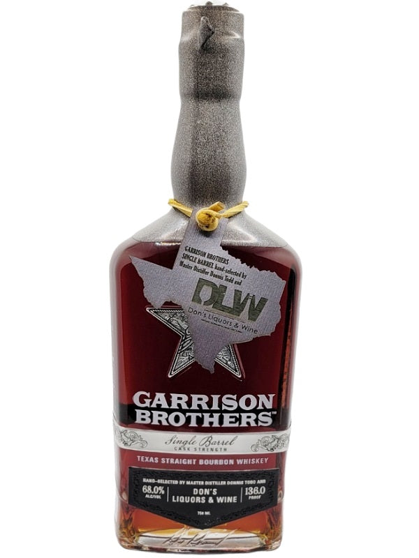 Garrison Brothers Don's Liquors & Wine Single Barrel