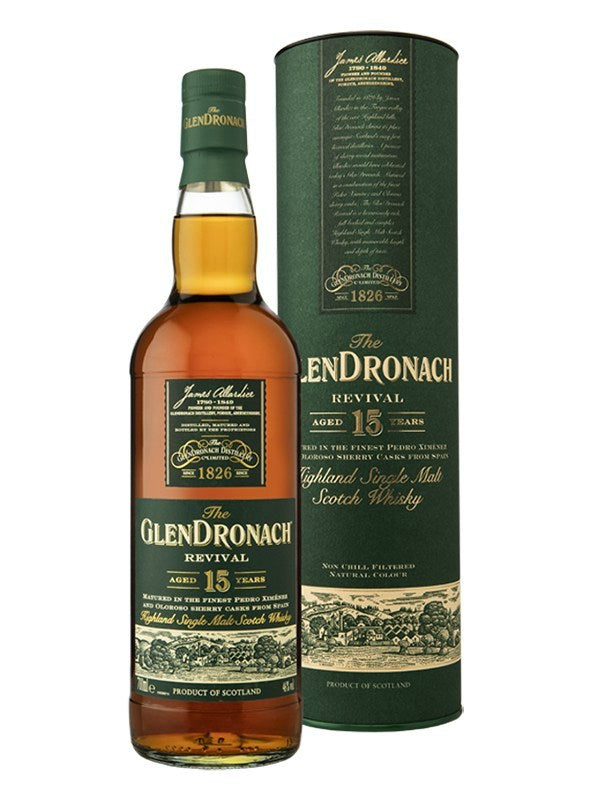 GlenDronach Revival 15 Year Old Scotch Whisky - Scotch - Don's Liquors & Wine - Don's Liquors & Wine