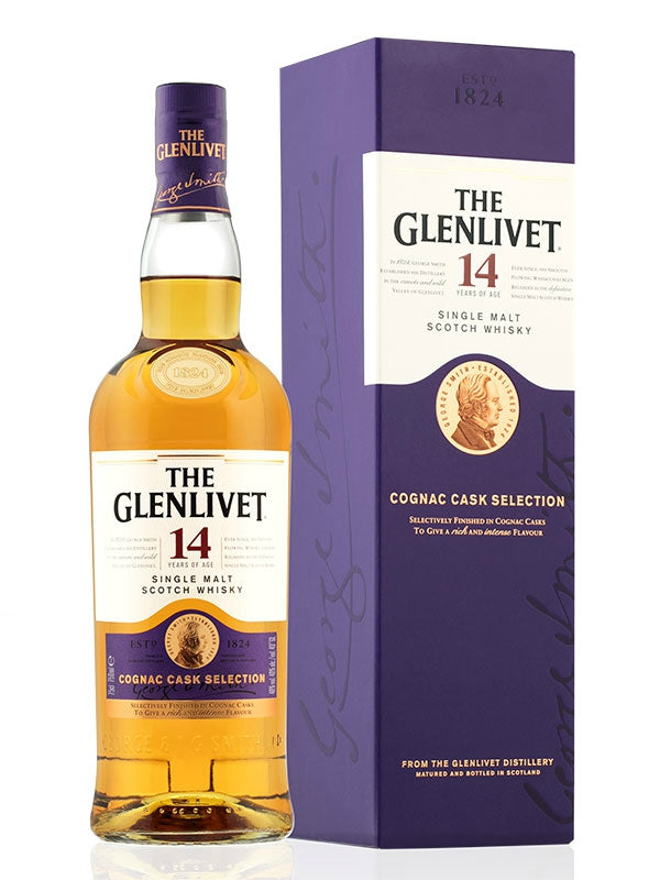The Glenlivet 14 Year Cognac Cask Selection Scotch - Don's Liquors & Wine