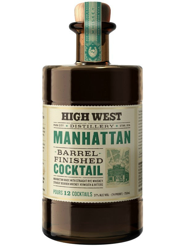High West Manhattan Barrel Finished Cocktail