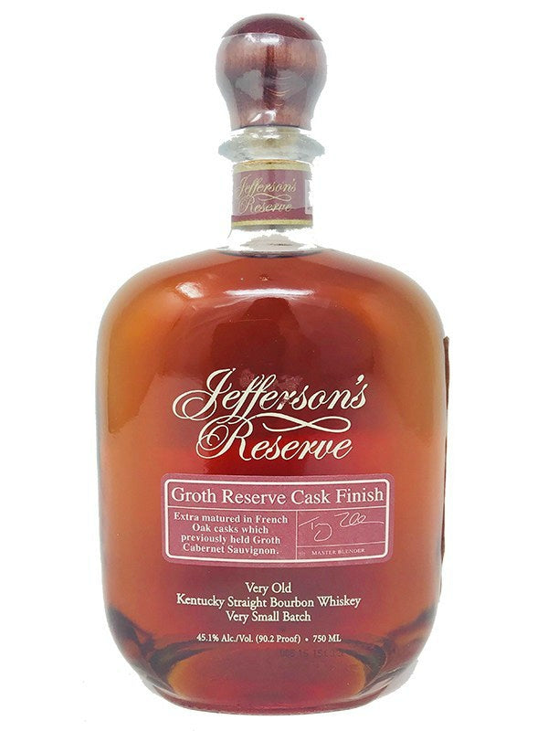 Jefferson's Reserve Groth Reserve Cask Finish Bourbon Whiskey - Bourbon - Don's Liquors & Wine - Don's Liquors & Wine