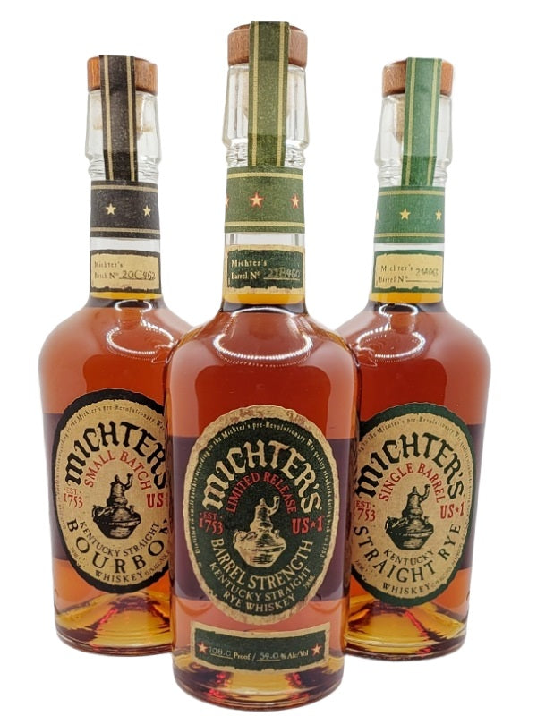 Michter's Barrel Strength Rye 2021 Edition Combo
