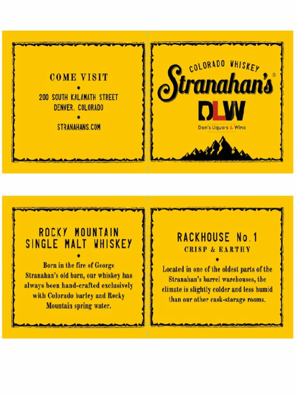 Stranahans Don's Liquors & Wine Single Barrel - Bourbon - Don's Liquors & Wine - Don's Liquors & Wine