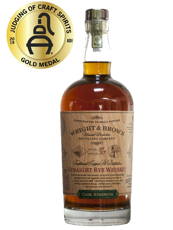 Wright & Brown Straight Rye Whiskey Cask Strength - Whiskey - Don's Liquors & Wine - Don's Liquors & Wine