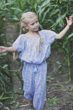 Comfortable loose-fitting Amina pajamas for girls - AMIKI Children