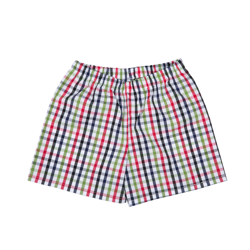 JONATHAN SHORTS IN GREEN AND RED CHECKS