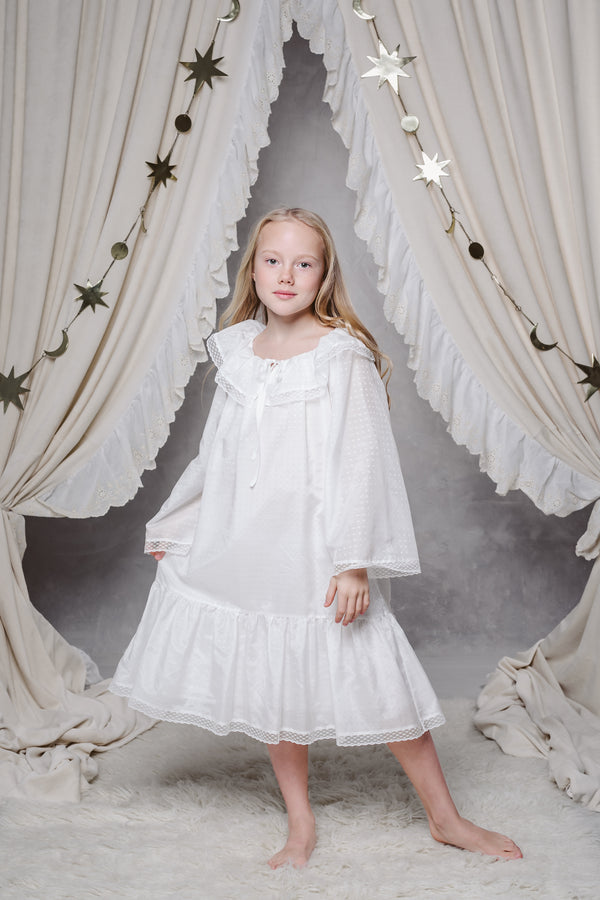 ELIZABETH GIRLS' NIGHTDRESS IN SNOW