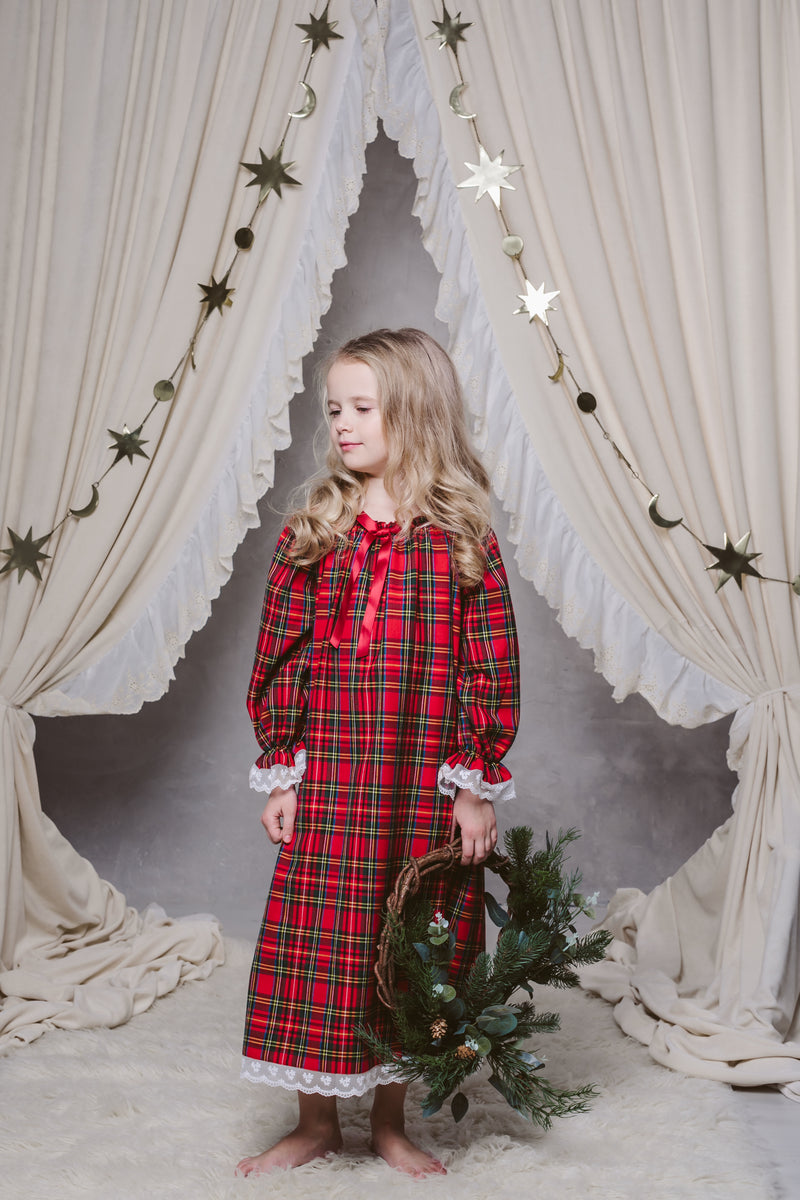 JULIA GIRLS' NIGHTDRESS IN TARTAN