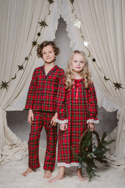 SAM BOYS' PYJAMA SET IN CHRISTMAS CHECKS