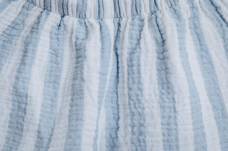 KARL COTTON MUSLIN BOYS' PYJAMA SET BLUE STRIPES
