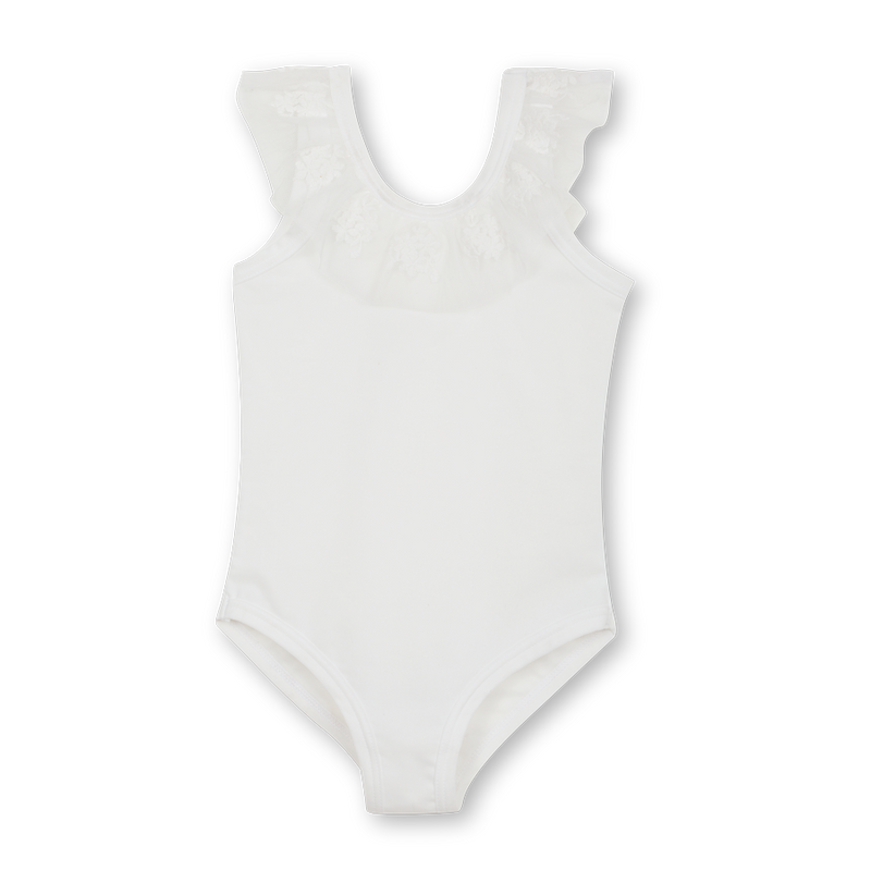 Girls' white swimsuit Alexa - adorable & high-quality swimwear for kids