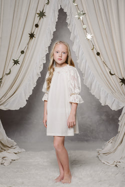 ALISA GIRLS' NIGHTDRESS IN IVORY